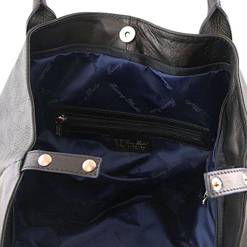 Tuscany Leather TL KeyLuck - Borsa donna in pelle - TL141207 (Testa di Moro) Nero