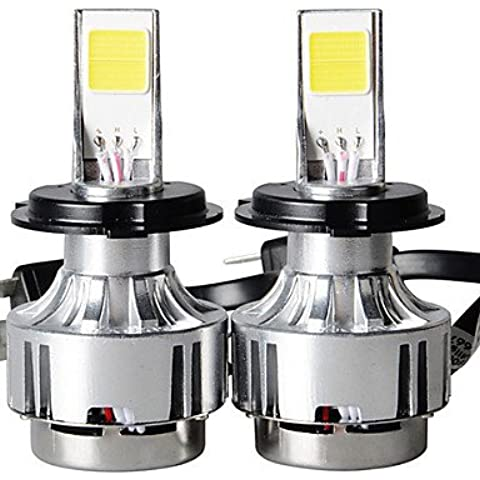 2PC 80W Siverado carretilla faros LED LED Headlight F150 modelos de automóvil americano,Kit de faros H4,blanco
