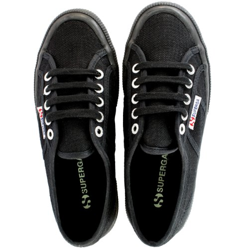 Donna Superga Classic Cotu canvas Low top retro scarpe da ginnastica-bianco-3.5 Black