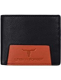 Urban Forest Varys Black/Orange RFID Blocking Leather Wallet for Men