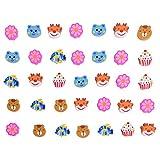 60pièces Emoji Emoticône caoutchouc Effacer Crayon Bonbonnière cadeau pour enfants