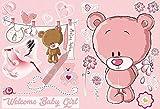 AM Wohnideen Wandsticker selbstklebend/Wandaufkleber/Babyzimmer/Kinderzimmer/Fototapeten Sticker Welcome Baby Girl Kinderzimmer