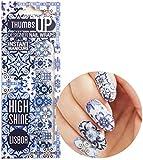 ThumbsUp Nails - Lisboa Portuguese Tiles Nail Wraps 20 Wraps / Pack