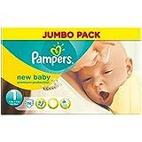 Pampers New Baby Taille 1 2-5kg nouveau-né (74) - Paquet de 6