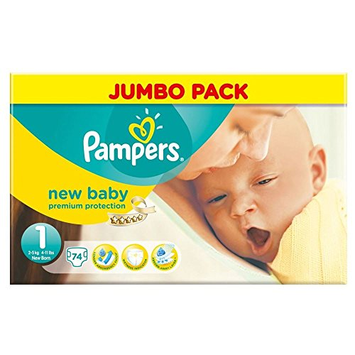 Pampers New Baby Size 1 (2-5kg) Jumbo Pack Newborn x 74 per pack