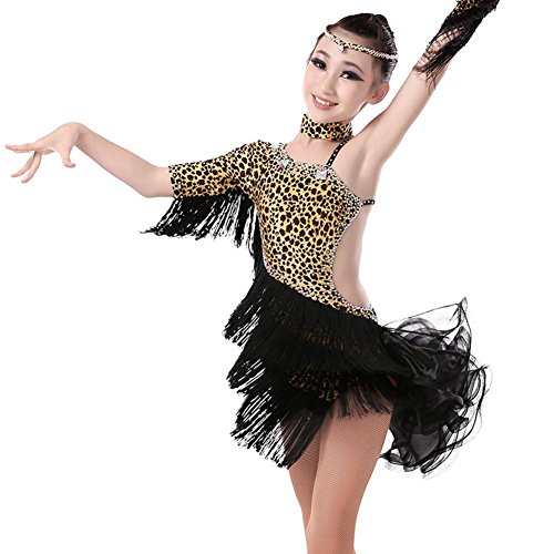 GBDSD Kinder Tanzkleider Latein Übung Kleidung Mädchen lateinische Erwachsenen Tanzkostüme Ballsaal Tanz für Kinder Tanzkleidung , Yellow , (Ballsaal Für Tanz Kostüme Kinder)