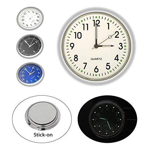 EEEKit Universal Pocket Mini Leuchtende Quarz Analoge Uhr Stick-On Uhr für Auto Boat Bike Home