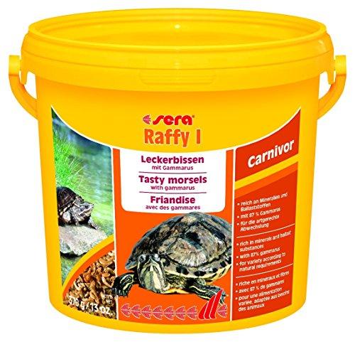 sera raffy I getrocknet Bachflohkrebse für Wasserschildkröten (ideal auch als Teichfutter oder Goldfischfutter), Reptilien und Amphibien - ein Gammarus Mix aus Bachflohkrebsen (87%) und Anchovies