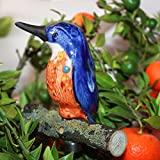 Tangoo Keramik Eisvogel dunkelblau, mit AST auf Stab