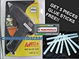 #6: 40 Watt Brand New Hot Melt Glue Gun with 5 Pieces Big Glue Sticks Free