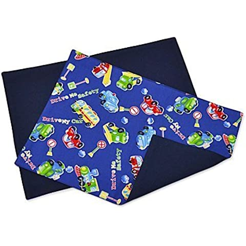Kids place mat set of 2 reversible type drive GOGO exciting! Gather vehicle! Made in Japan N3673700 (japan