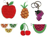 Search : BEADWORX KEYRING ~ Hand Sculpted ~ FRUIT ~ With Bag Clip & Keyring ~ Ideal for Birthday / Christmas / All Occasions Gifts ~ Choose Your Fruit :