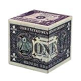 SXPC Impresión UV patrón de dólar 3x3x3 Velocidad del Cubo mágico Cube Puzzle Toy para Brain Trainning,A