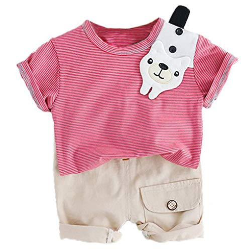 Plzlm Sommer-Kleinkind-Säugling Cartoon-T-Shirt Shorts Bekleidung - Tier Trägt Ein Kostüm
