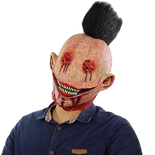 Blaward Scary Clown Maske Gesicht Neuheit Latex Horror Masken, Halloween Kostüm für Party, Schreckliche Kürbis Kopf Maske für Halloween Party