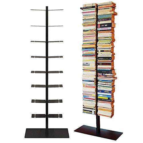 Radius Design booksbaum double stand gross schwarz, 3tlg. best.aus: Halterung + Fuß + Einlegeböden (Standard-bücherregal)