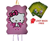 #9: AMFIN® (Pack of 1) Khoi Bags For Birthday party Decoration items / Loot bags for birthday Hello Kitty Party Supplies …+ (10 Loot Bags Free)