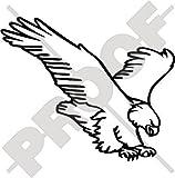 ADLER Raptor Raubvogel 170mm Auto & Motorrad Aufkleber, Vinyl Stickers - WAHL VON 22 FARBEN