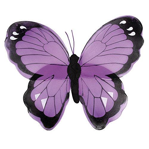 erdbeerclown - Fee Flügel Schmetterling Kostüm, Lila