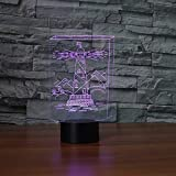 3D Night Light Acrilico 7 colori Cambia LED Faro Desk Lamp Corridoio Arredamento comodino WC Baby Sleep Lighting Regali creativi