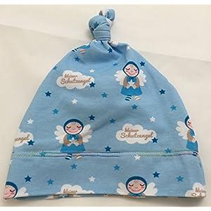 Babymütze Knotenmütze kleiner Schutzengel hellblau