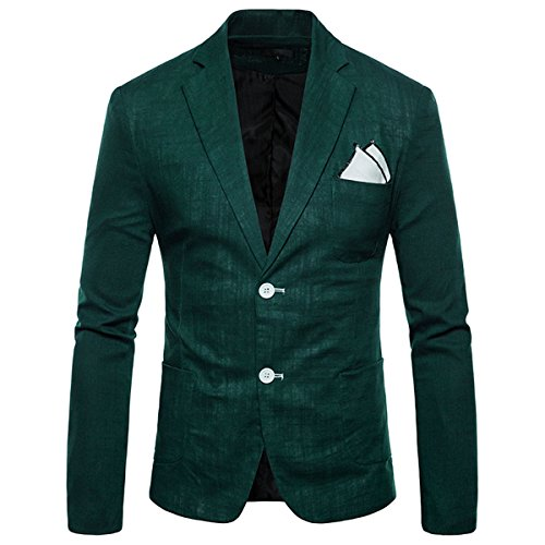 INVACHI Blazer Uomo verde scuro XL