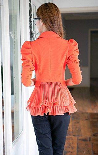 Aisuper Damen Blazer Orange