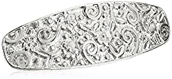 1928 Jewelry Hair Silver Tone Barrette