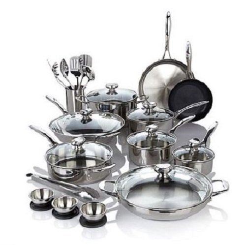 Wolfgang Puck Bistro Elite 27-piece Stainless Steel Cookware Set by Wolfgang Puck