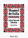 De Falla: Suite Populaire Espagnole. Partituras para Violín, Acompañamiento de Piano
