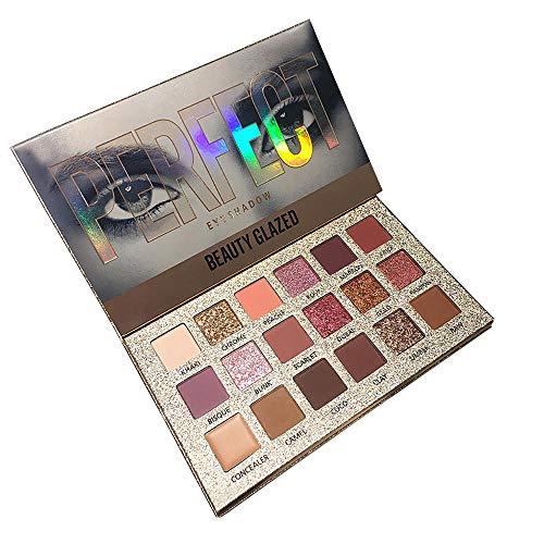 Cooljun 18 couleurs Palette de fard à paupières Mat Shimmer Pigmented Twilight et Poudre Ombre à paupières Dusk