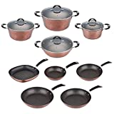San Ignacio Kitchen and Battery Set of Frying Pans, Forged aluminium, copper, 30 cm