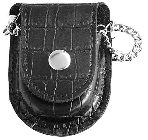 Classique Uhr Cowboy Grtel Taschenuhr analog mit Karabiner Kette Black Schwarz