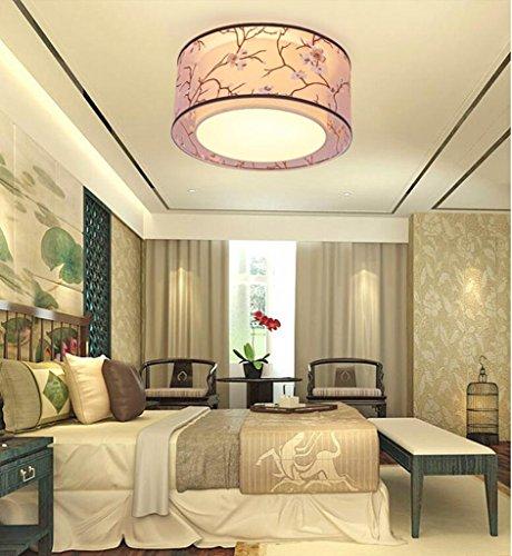 Jingzou Modern Minimalistisch Stoff Wohnzimmer Decke LED Den Ess Neue Chinesische Schlafzimmerlampe 45CM Amazonde Beleuchtung