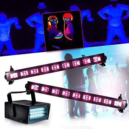 Spécial Déco Halloween Réglettes Barre Néon Lumière noire 9x3WFLUO BLACK LIGHT + Mini LEDSTROBE LED