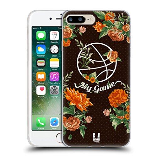 Head Case Designs Fleur De Volley Florals Sportif Étui Coque en Gel molle pour Apple iPhone 5 / 5s / SE Pâquerette De Basketball