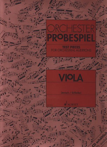 Viola Test Pieces for Orchestral Auditions (Orchester Probespiel) by Ed: Jenisch Various (13-Jan-1993) Sheet music
