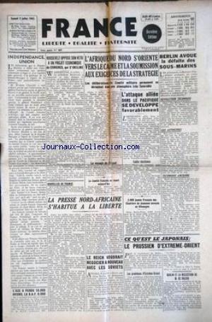 FRANCE [No 885] du 03/07/1943 - L'AF...