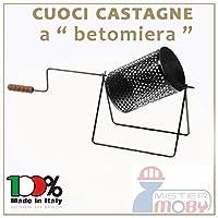 Barilotto rotante per cucinare le castagne in maniera uniformeProdotto artigianale realizzato in Italia