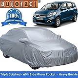 #9: Autofact Premium Silver Matty Triple Stitched Car Body Cover with Mirror Pocket for Maruti Ertiga