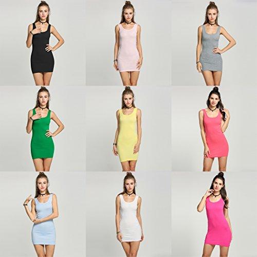 Romanstii Damen Schlauch Kleid One size Gelb