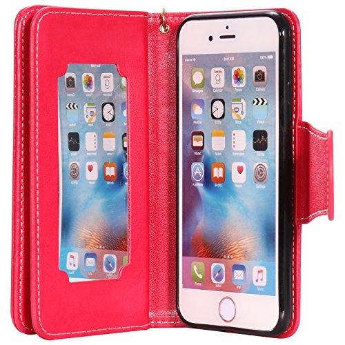 PU für Apple iPhone 6 (4.7 Zoll) Hülle,Farbe geprägt Geprägte Handyhülle / Tasche / Cover / Case für das Apple iPhone 6 (4.7 Zoll) PU Leder Flip Cover Leder Hülle Kunstleder Folio Schutzhülle Wallet T 8