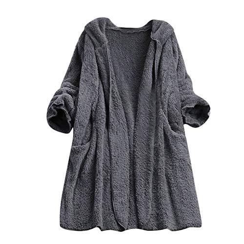 Luckycat Damen Damen Kunstwolle Mantel Reißverschluss Jacke Winter -