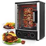 NutriChef AZPKRT97 Upgraded Multi-Function Rotisserie Vertical Countertop Oven with Bake Turkey Thanksgiving Broil