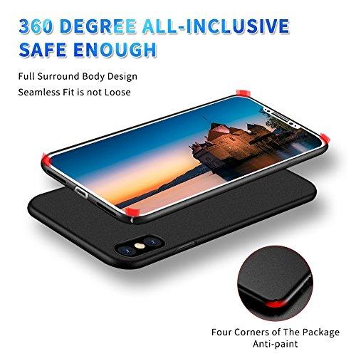 Copertura di caso di iPhone 8 Tutto il caso protettivo ultra sottile, lo shock di alta qualità, limpronta digitale, la copertura del telefono antiscorrimento per Apple iPhone 8 Plus black