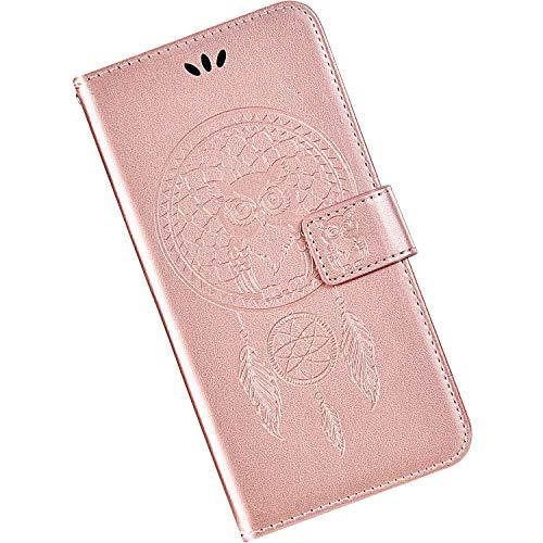 Qjuegad Compatibile con Samsung Galaxy J5 2017 Custodia Flip Libro Caso in Pelle con Chiusura Magnetica Portafoglio Custodia Antiurto Protettiva Case con Funzione di Supporto, Oro Ros