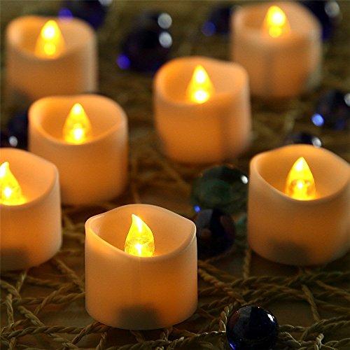 grid LED Teelichter, Flammenlose Kerzen, Flackern Kerze Teelichter, Elektrische Kerzen , Elektrische Teelichtern für Weihnachten, Halloween, Party, Bar, Hochzeit, Hotels, Geburtstags( Flicker Gelb). (Halloween Dinner Party Ideen)