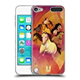 Head Case Designs 8 Im Galopp Jahr des Pferdes Soft Gel Hülle für Apple iPod Touch 5G 5th Gen