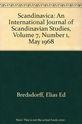 Scandinavica: An International Journal of Scandinavian Studies, Volume 7, Number 1, May 1968