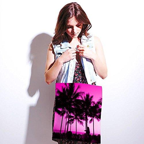 Tote bag pour femme Fête A La Plage imprimé sac épaule sacs en toile